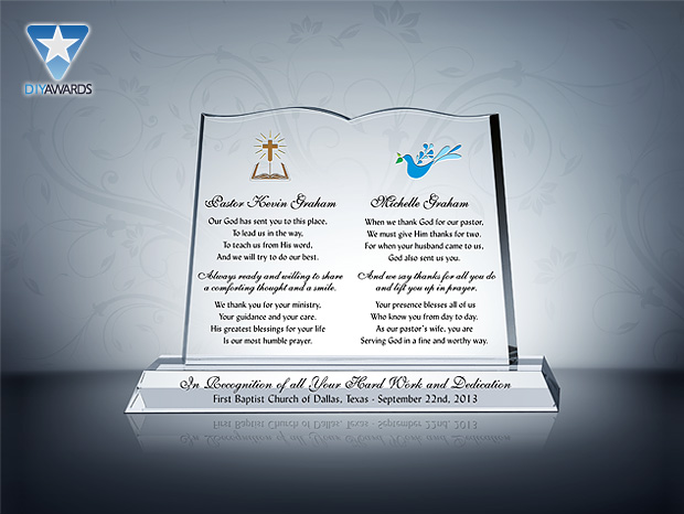 Pastor and Wife Anniversary Plaque