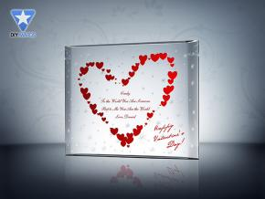 """Stars of Love"" Crystal Plaque"