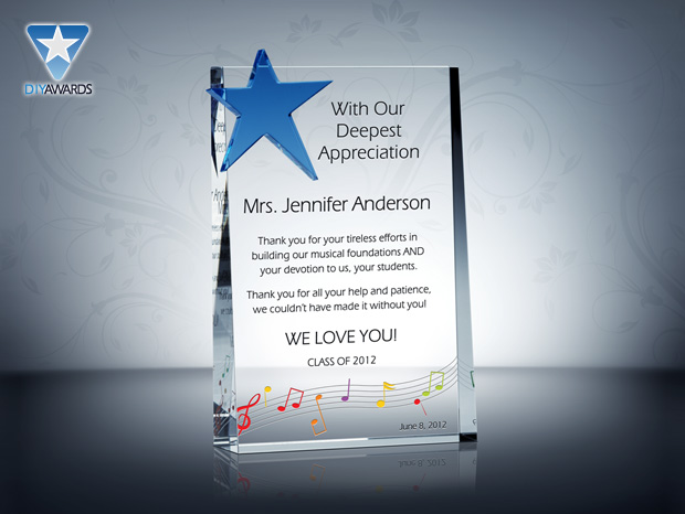 2014 employee appreciation day ideas crystal awards for Plaque of appreciation template