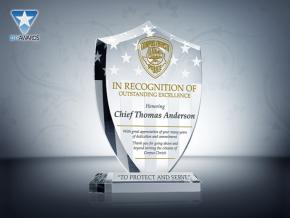 Police Recognition Award Plaque